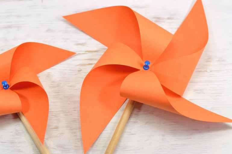 art fan object orange